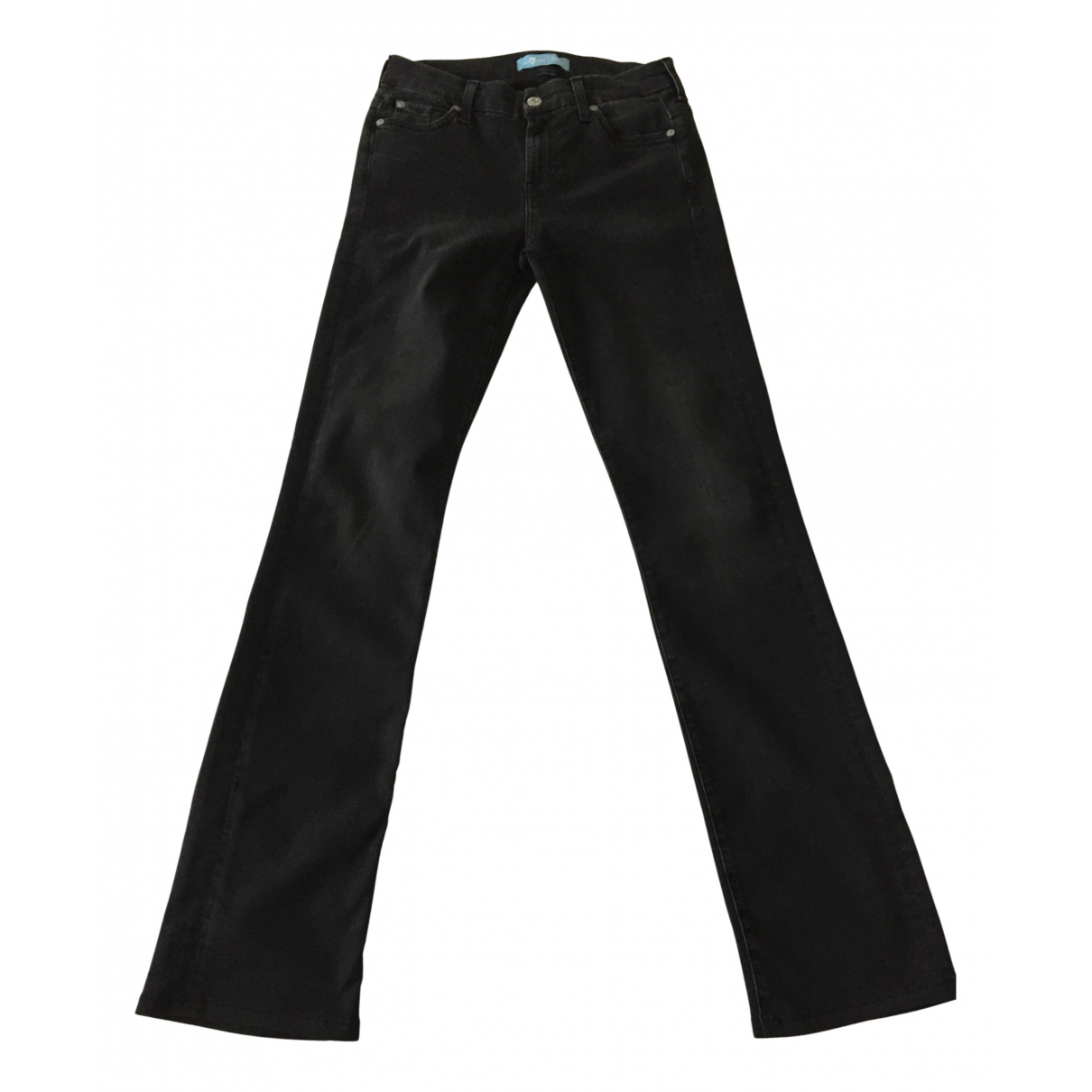 7 For All Mankind N Black Cotton - elasthane Jeans for Women 26 US