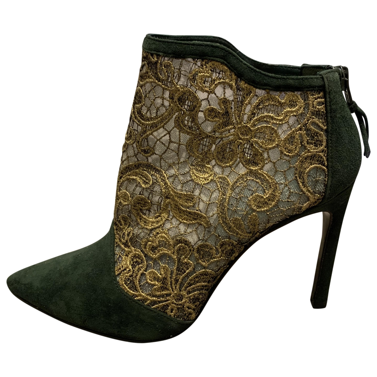 Stuart Weitzman - Boots   pour femme en cuir - vert