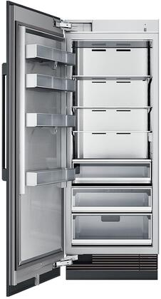DRR30980LAP 30 Contemporary Series Column Refrigerator with 17.8 cu. ft. Capacity  Side LED Lighting  Precise Cooling  Hidden touch control  Push to