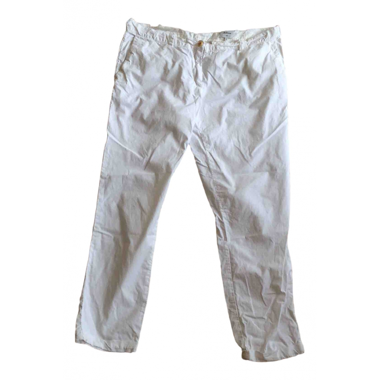 Bellerose \N White Cotton Trousers for Women 4 0-5