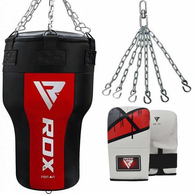 RDX AR Angle Punch Bag Unfilled Uppercut Black/Red