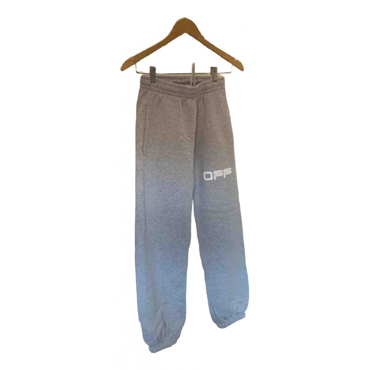 Off-white \N Grey Cotton Trousers for Men XS International