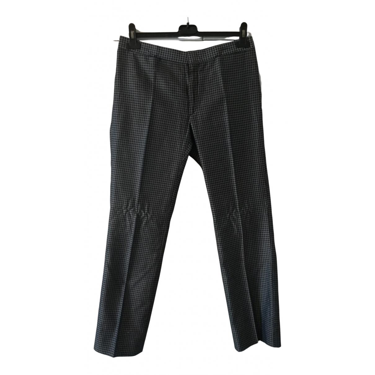 Pantalones en Algodon Negro Costume National