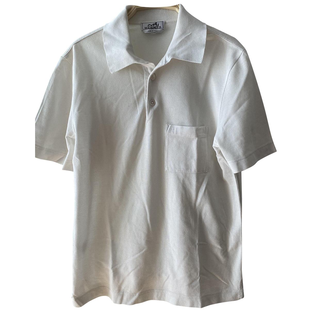 Hermes \N Poloshirts in  Weiss Baumwolle