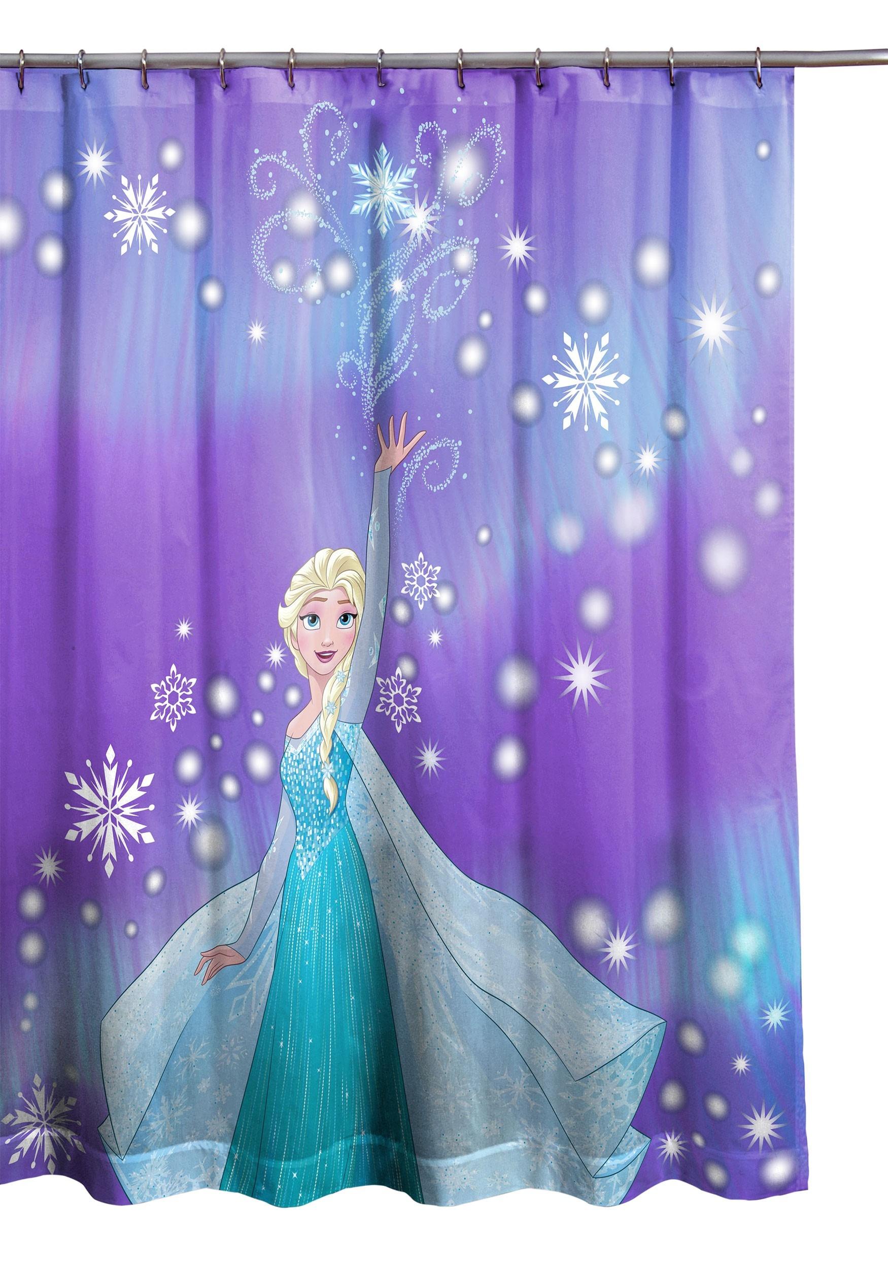 Disney Frozen Snowflake Shower Curtain
