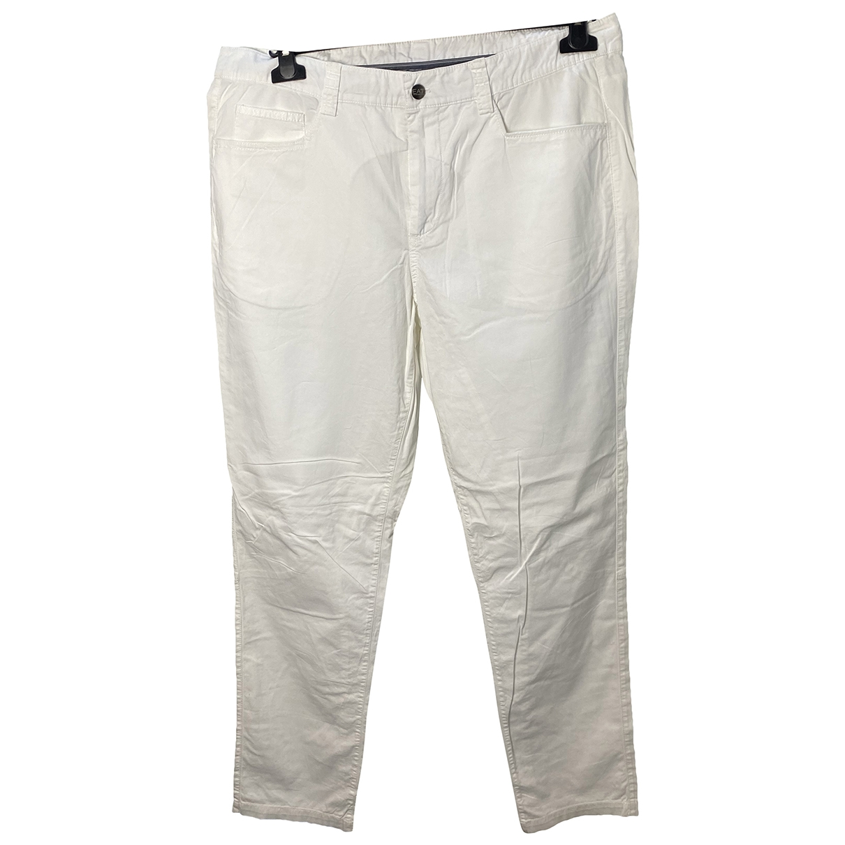 Pantalones en Algodon Crudo Emporio Armani