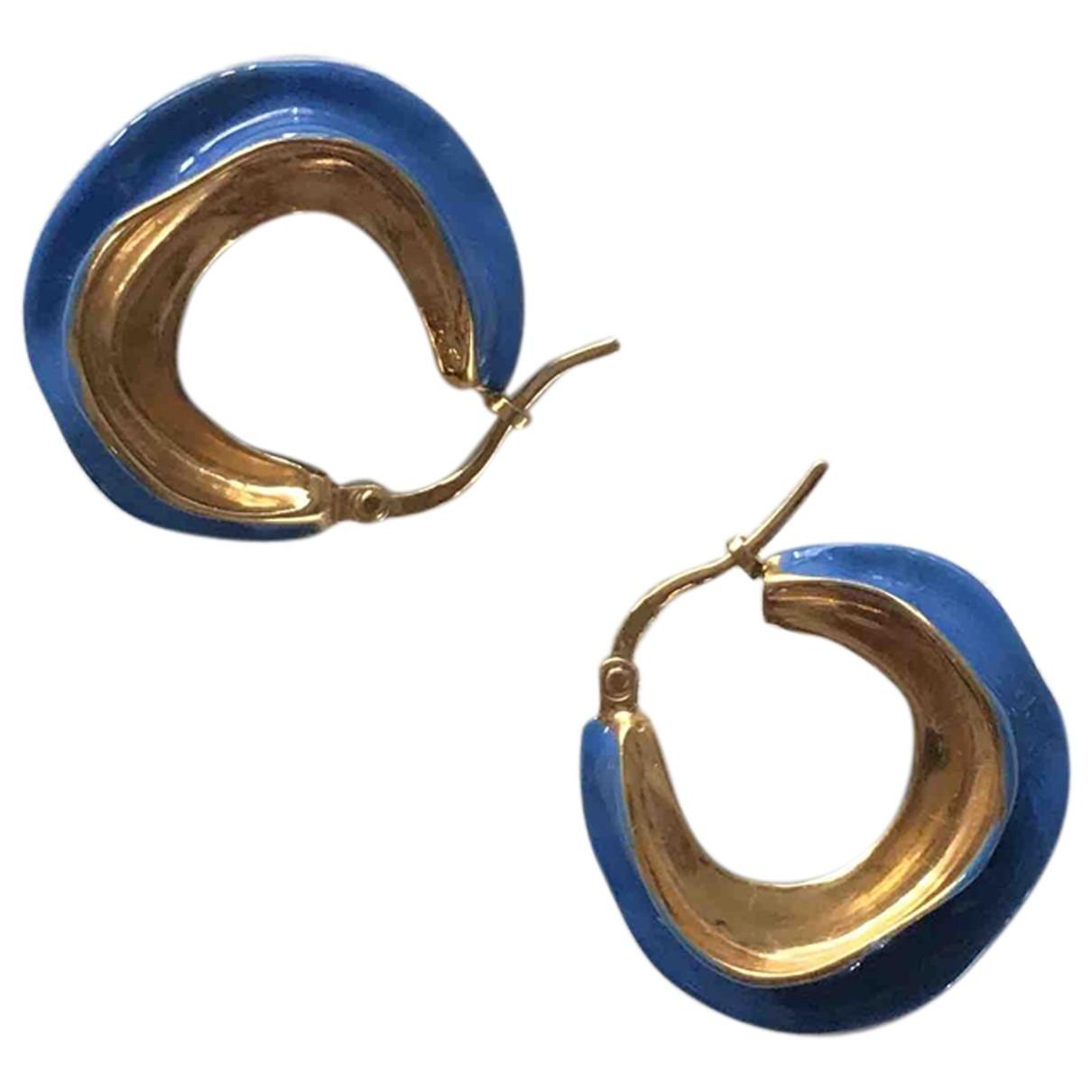 Celine - Boucles doreilles Swirl pour femme en metal - bleu