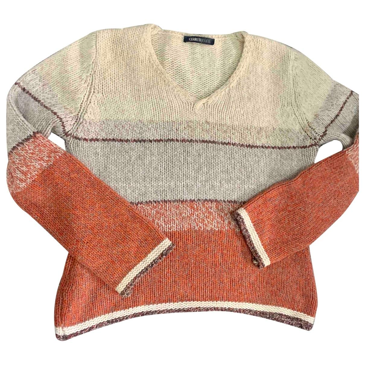 Cerruti - Pull   pour femme en laine - beige