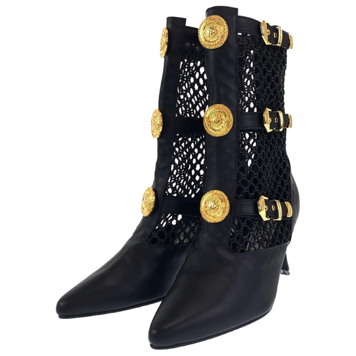 Botas de Cuero Gianni Versace