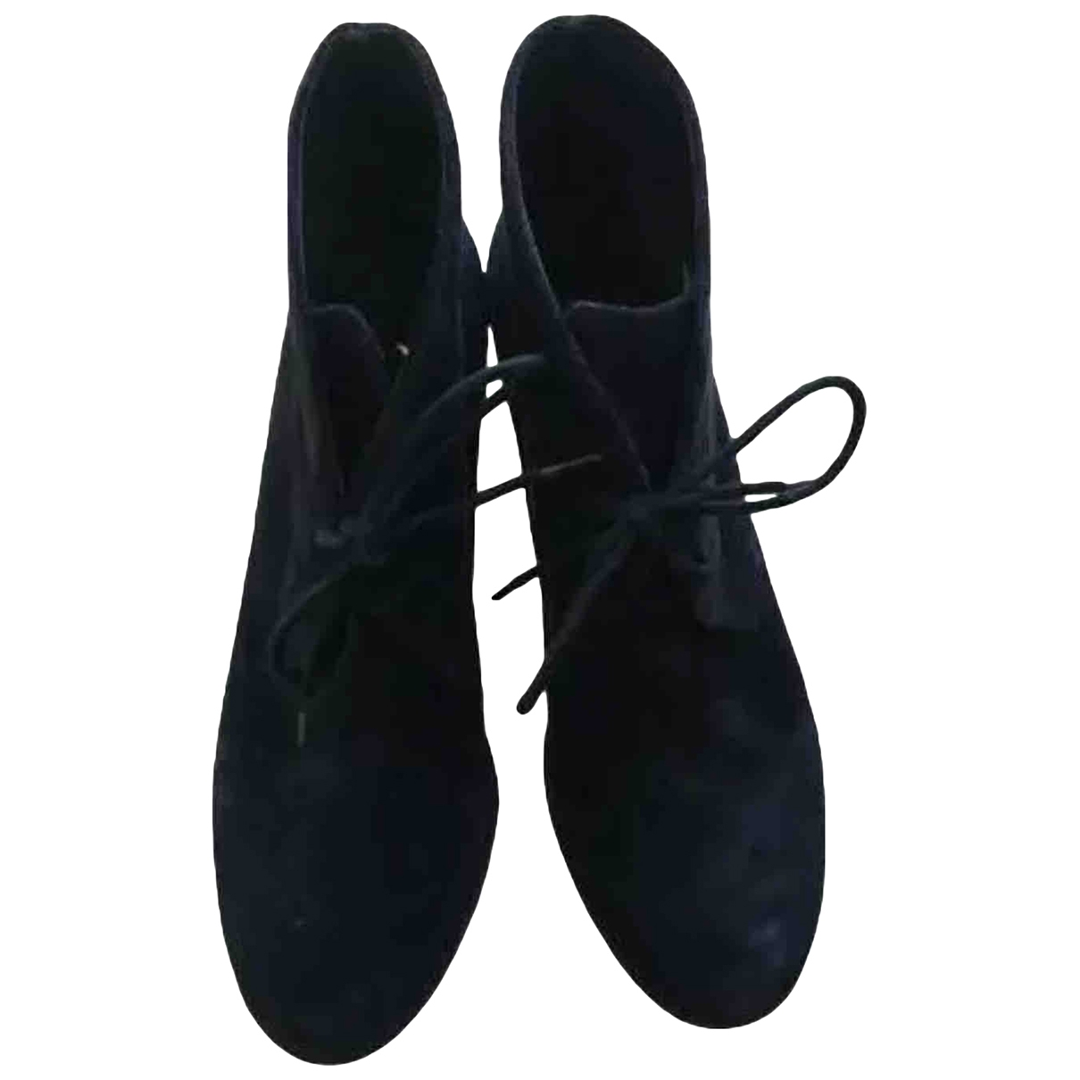 Ash \N Navy Suede Ankle boots for Women 39 EU