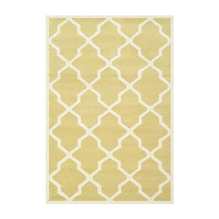 Safavieh Florence Geometric Hand Tufted Wool Rug, One Size , Yellow