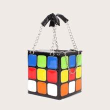 Cube Chain Box Bag