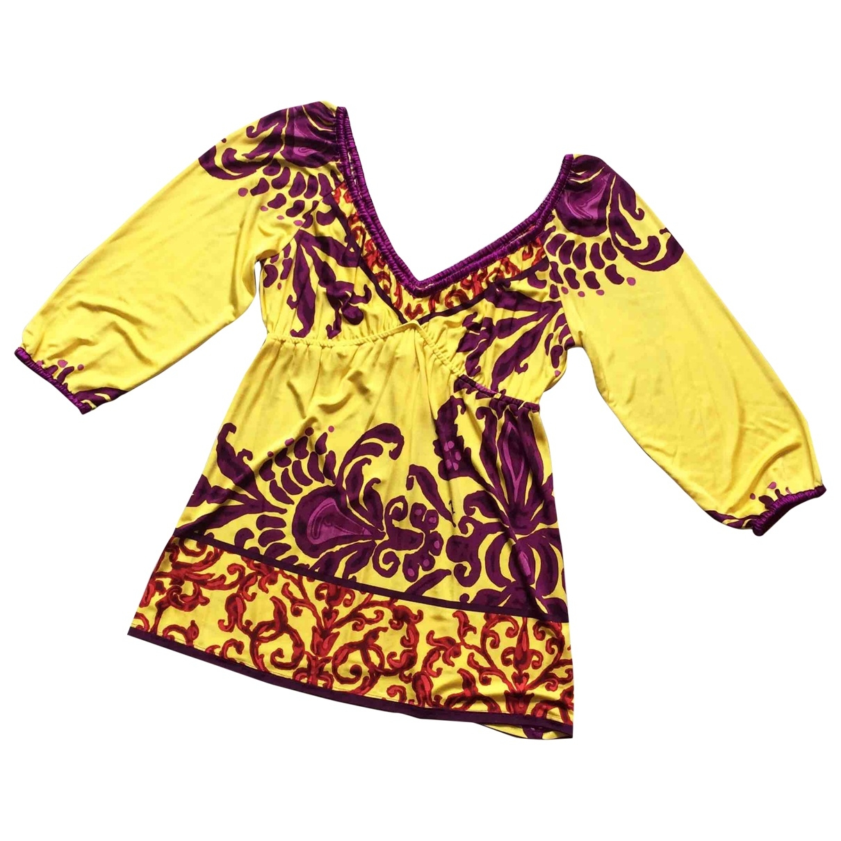 Hale Bob - Pull   pour femme en soie - jaune