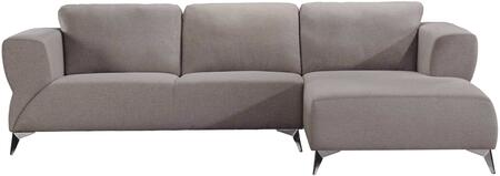Josiah Collection 55095 Sectional Sofa  L Shape Chaise Sectional  Loose Back & Tight Seat Cushion  Full Foam Seat  Wood Inner Frame  Armrest Wide