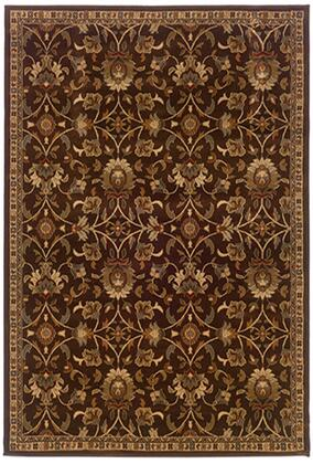 A2331K248305ST 8 2 X 10 0 Rectangle Rug with Floral Pattern and PolypropyleneFiber
