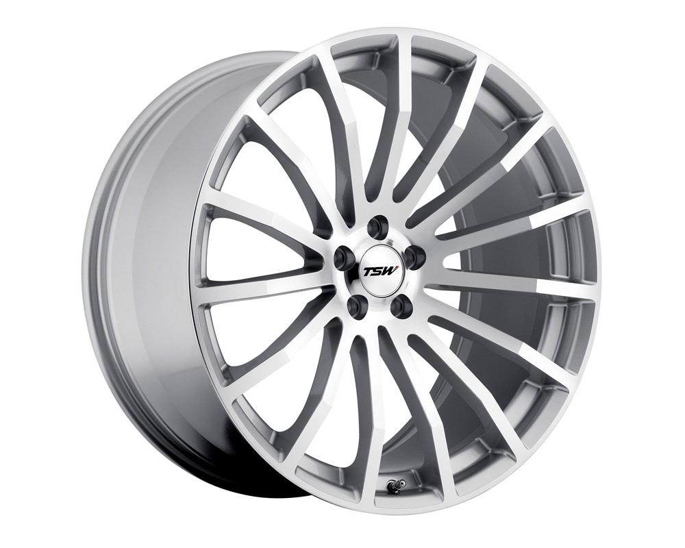 TSW Mallory Wheel 18x8 5x120 35mm Silver w/ Mirror Cut Face