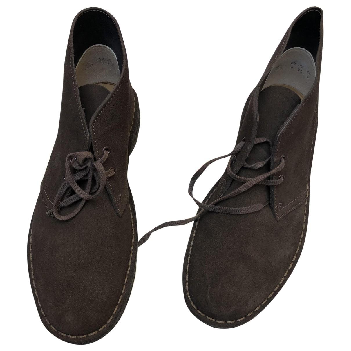 Clarks \N Stiefel in  Braun Leder