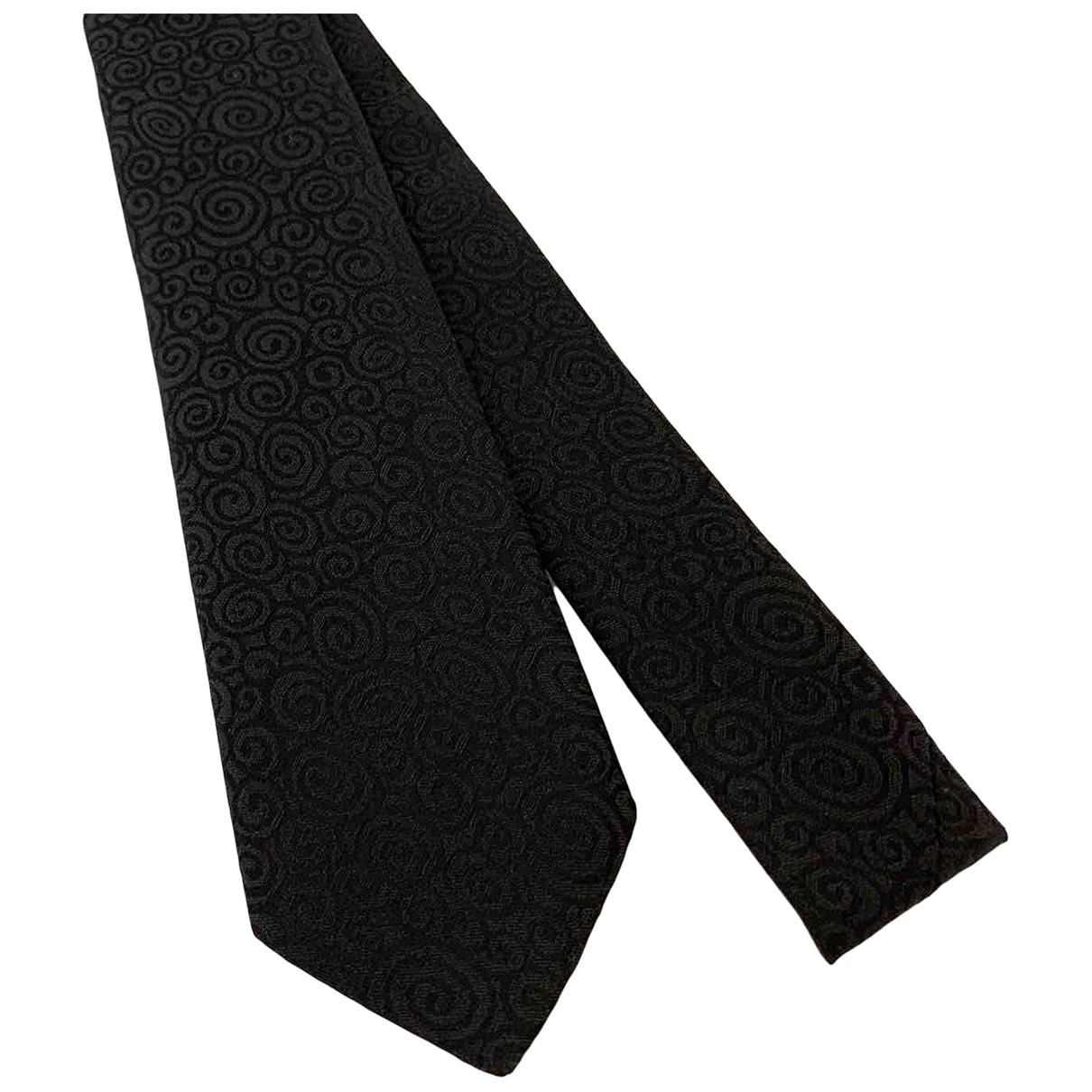 Dolce & Gabbana \N Krawatten in  Schwarz Baumwolle