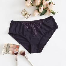 Plus Contrast Lace Panty