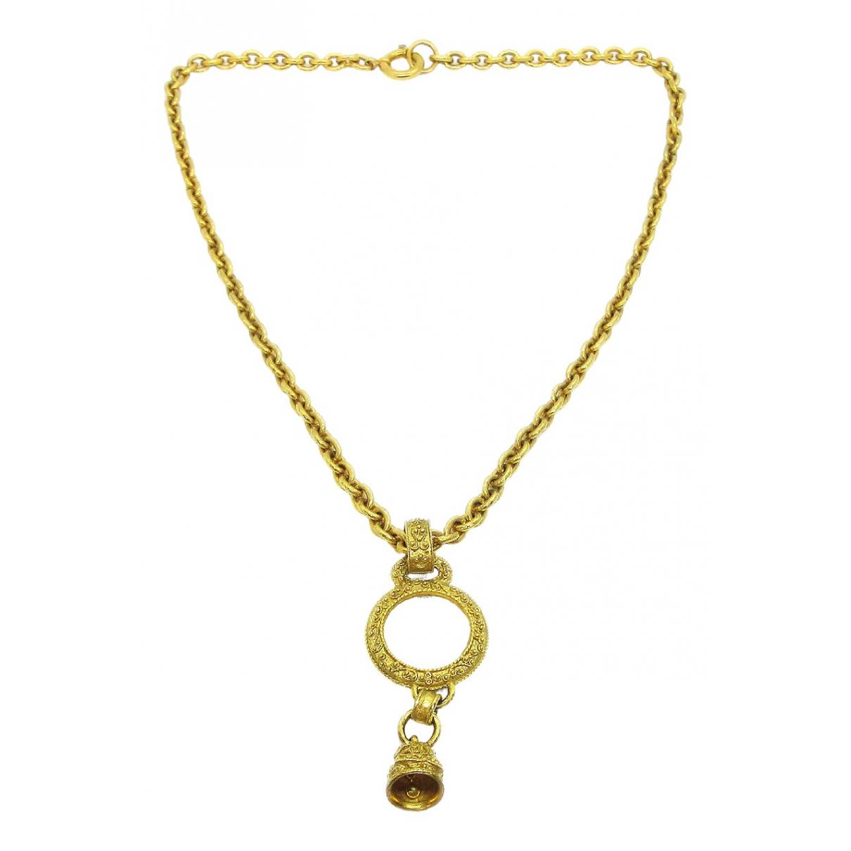 Chanel - Collier   pour femme en metal - dore