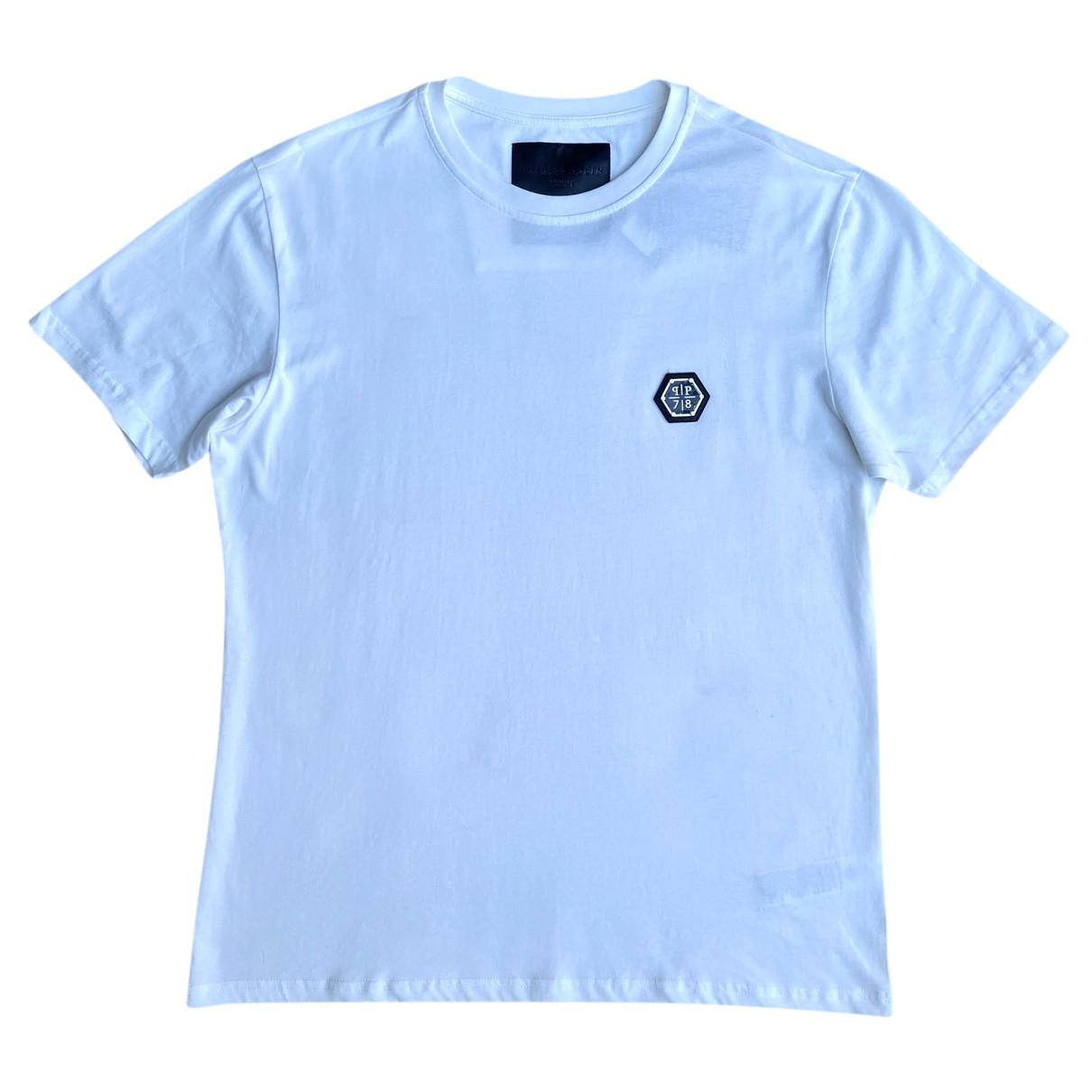 Philipp Plein N White Cotton T-shirts for Men XXXL International