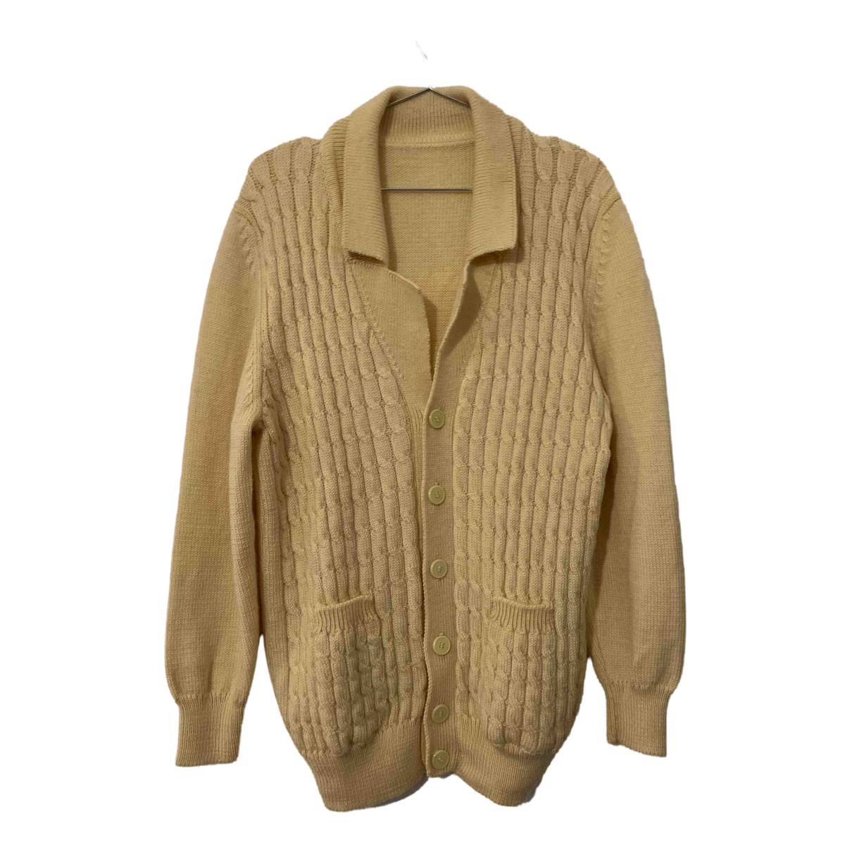 Non Signé / Unsigned Oversize Beige Wool Knitwear & Sweatshirts for Men L International