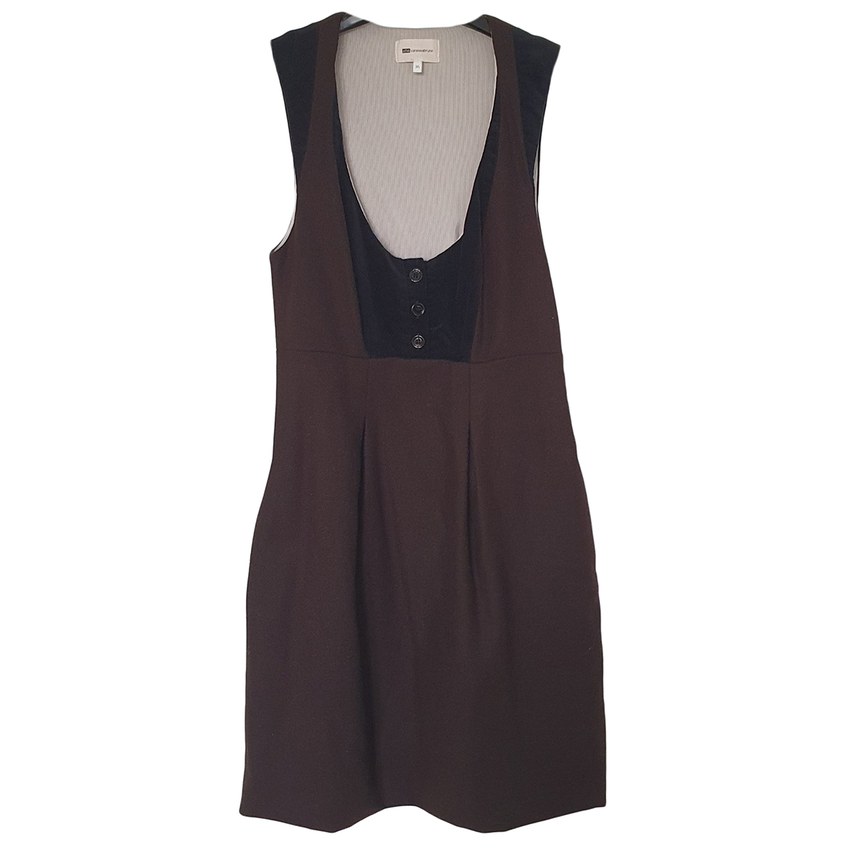 Vanessa Bruno Athe \N Brown Wool dress for Women 36 FR