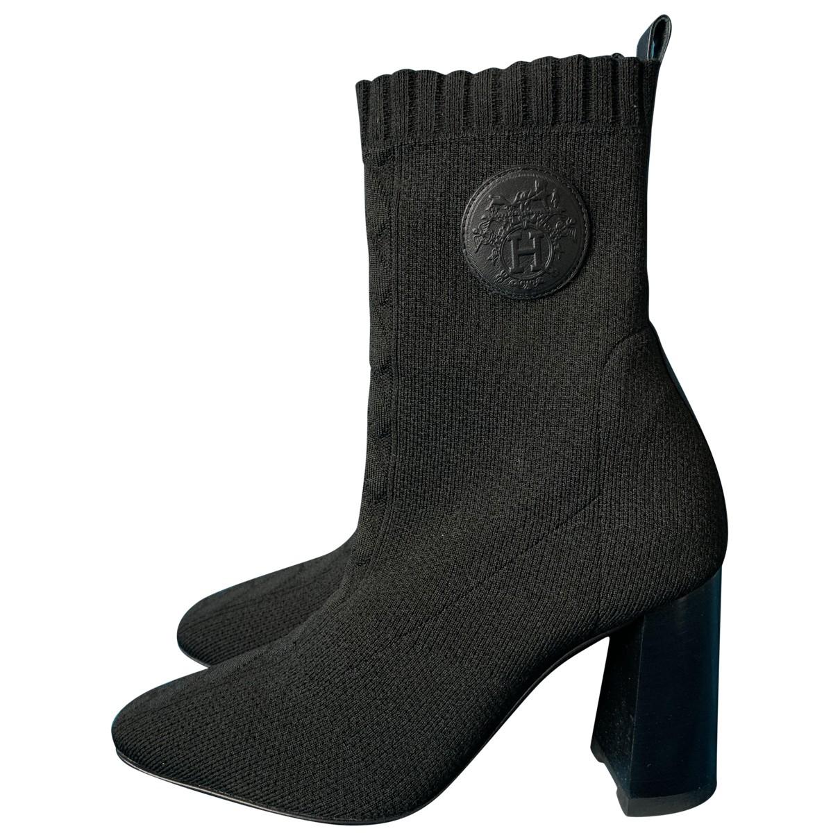 Hermès N Black Cloth Ankle boots for Women 36 EU