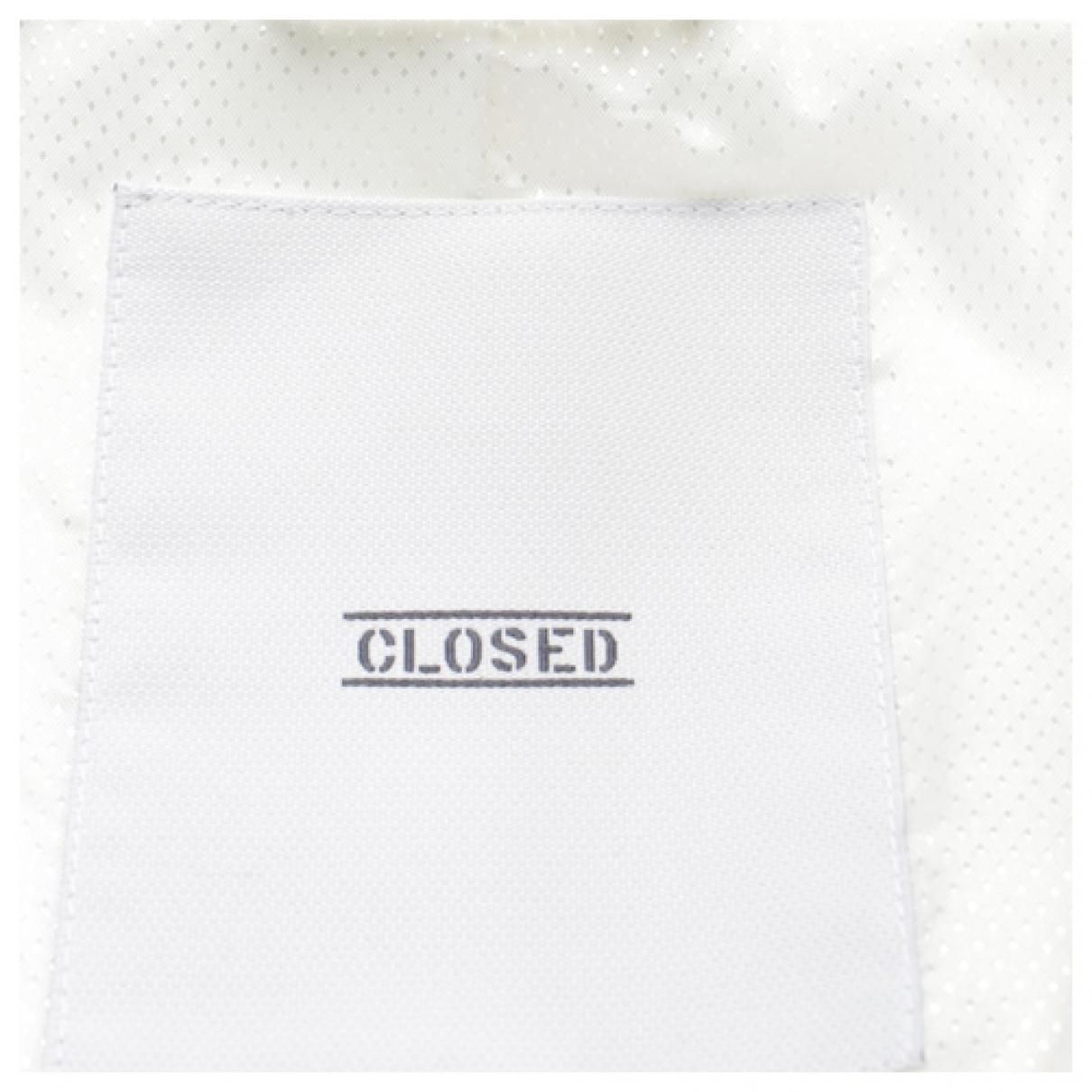 Closed - Veste   pour femme en lin - blanc