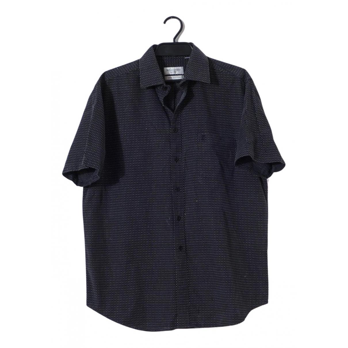 Yves Saint Laurent \N Hemden in  Marine Baumwolle