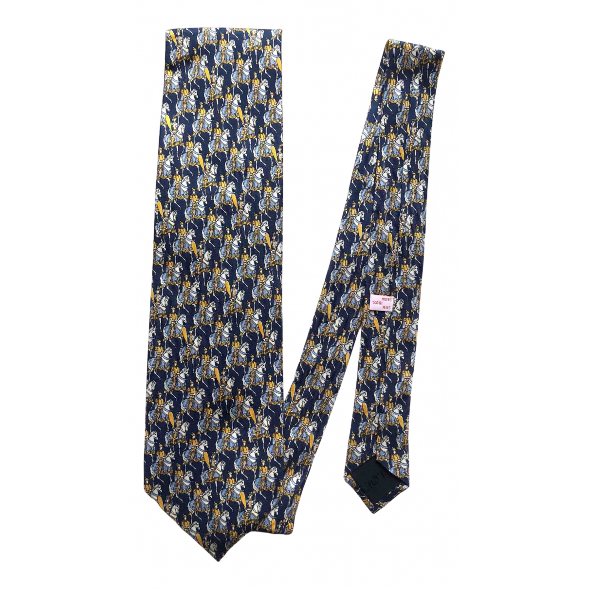 Loewe \N Krawatten in  Blau Seide