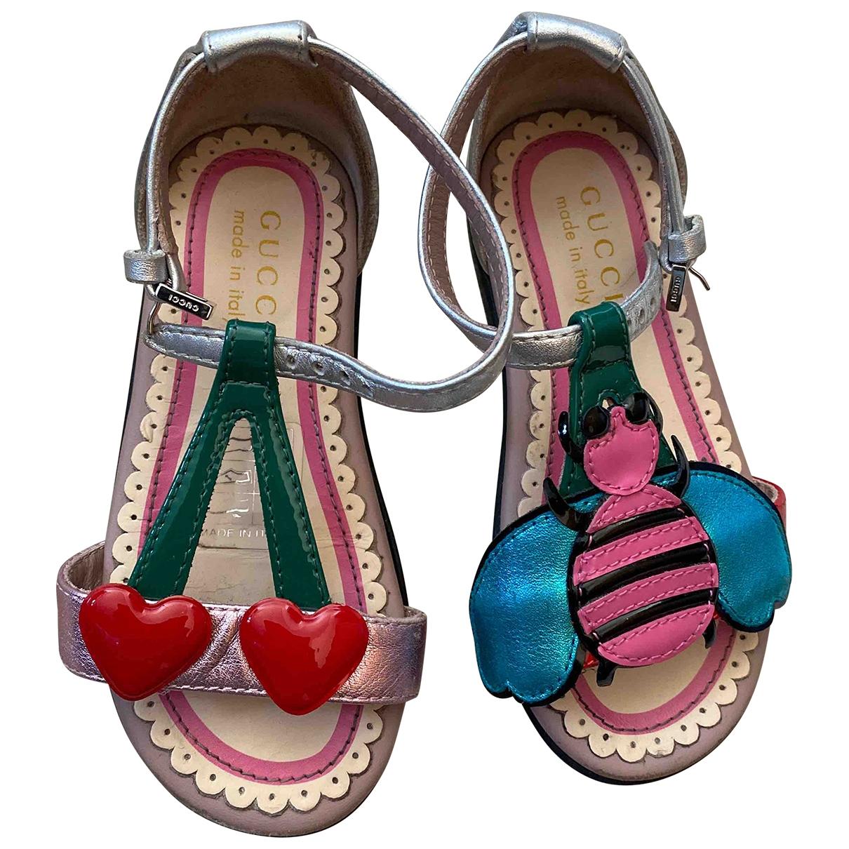 Gucci - Sandales   pour enfant en cuir - multicolore