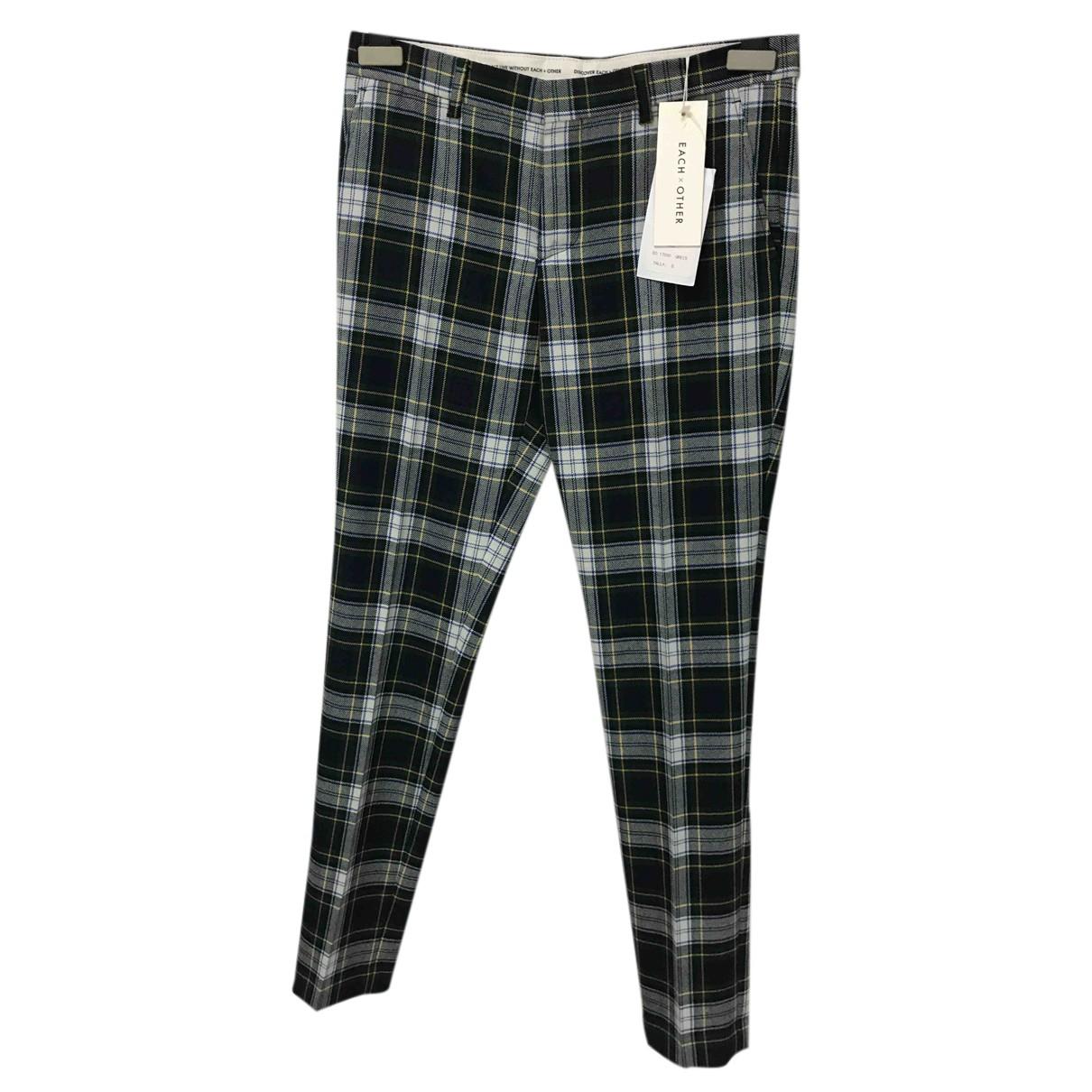 Each X N Green Wool Trousers for Men S International