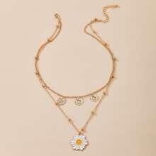 Daisy Layered Necklace