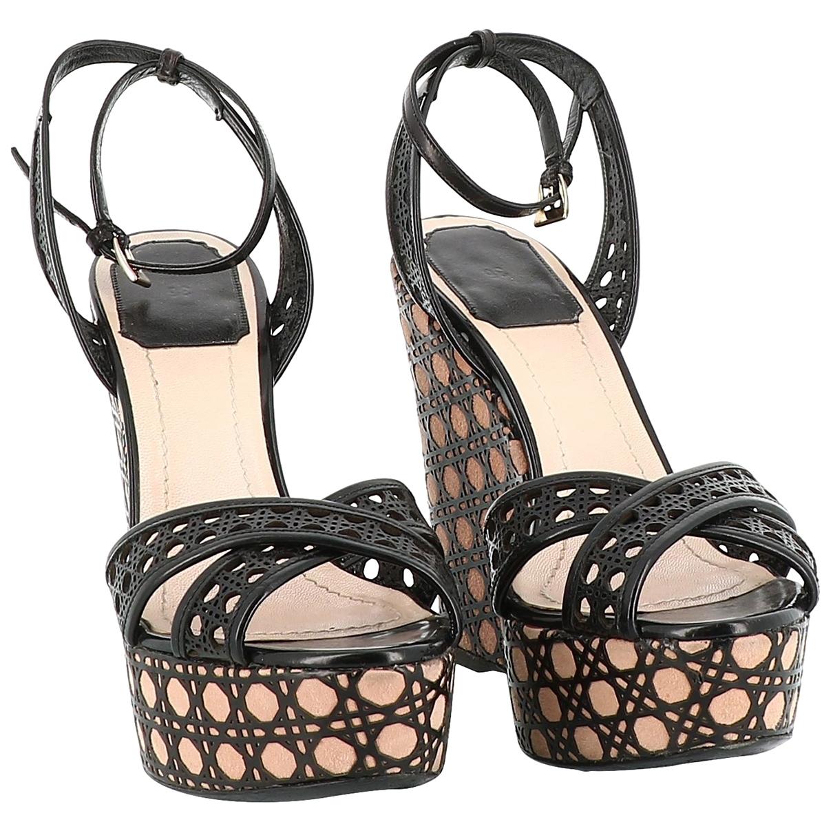 Dior - Sandales   pour femme en cuir - noir