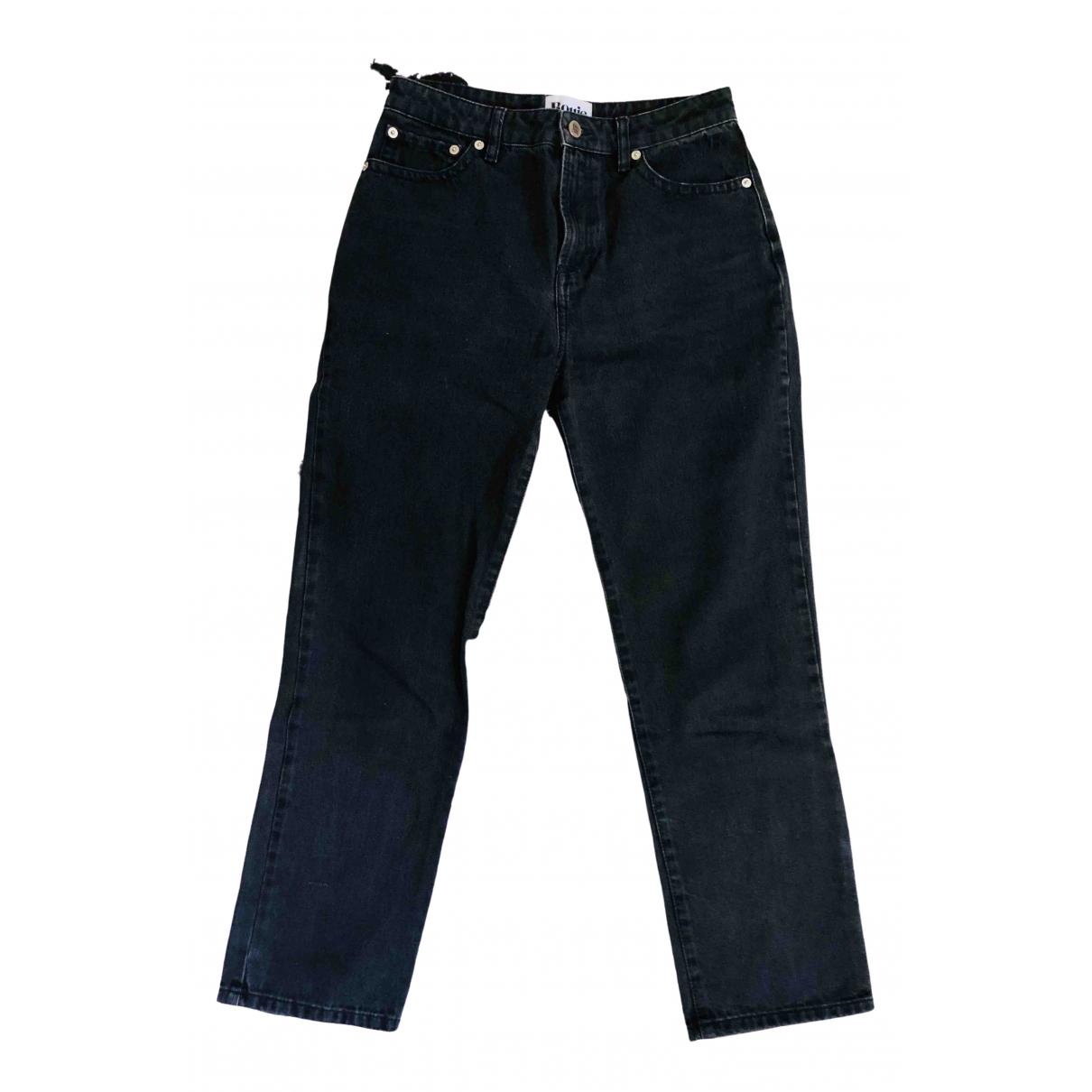 Rouje Spring Summer 2019 Black Cotton - elasthane Jeans for Women 38 FR