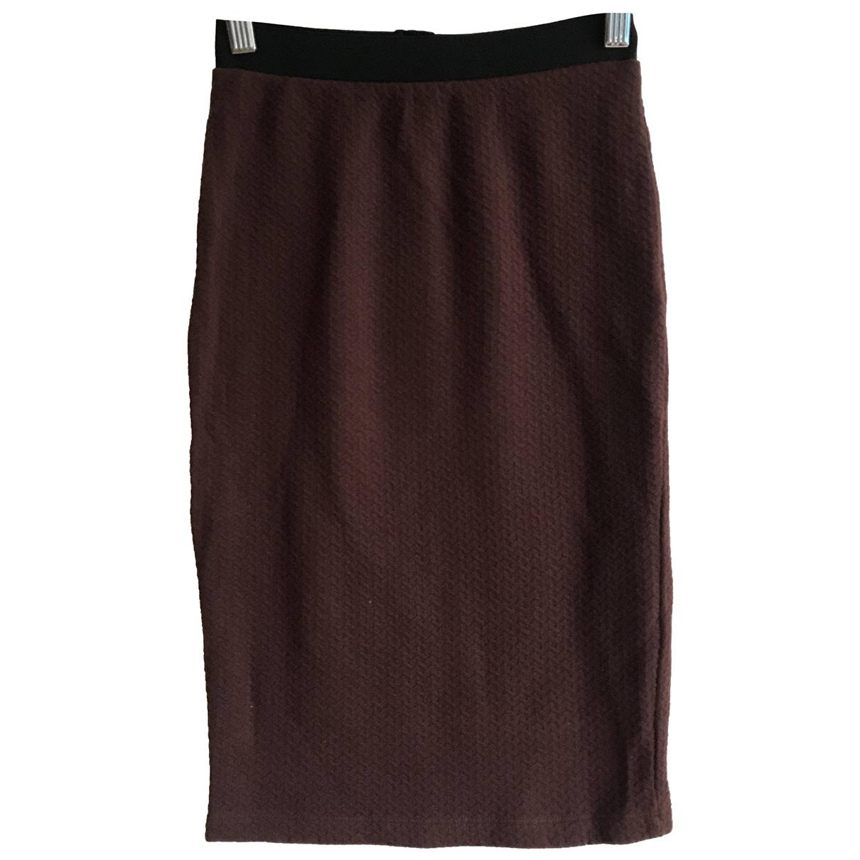 Selected N Burgundy Cotton skirt for Women XS International