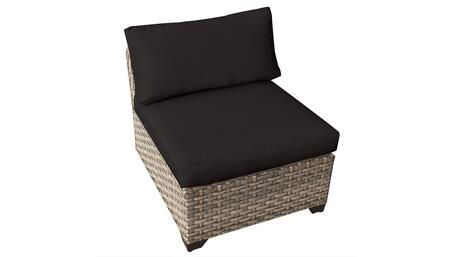 Monterey Collection TKC015b-AS-BLACK Armless Chair - Beige and Black