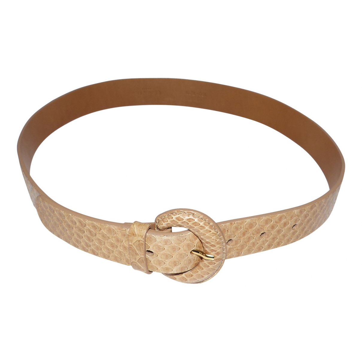 Dior \N Beige Python belt for Women 75 cm