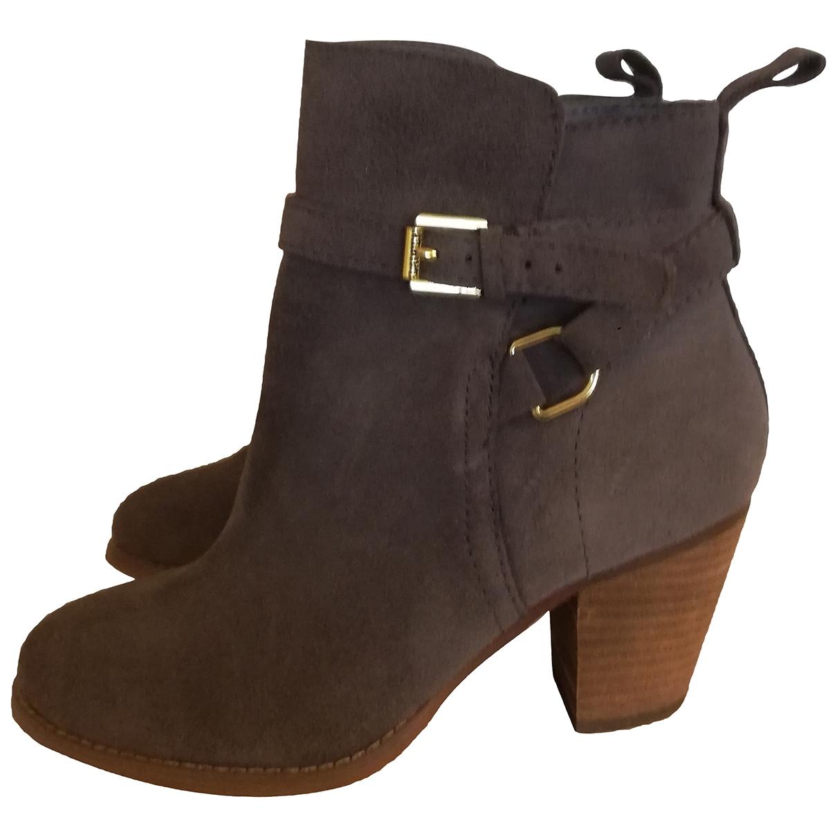 Lauren Ralph Lauren - Boots   pour femme en suede - camel