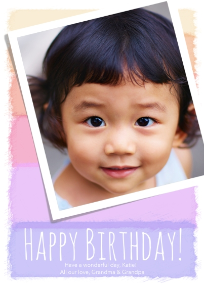 Birthday Greeting Cards 5x7 Cards, Premium Cardstock 120lb with Rounded Corners, Card & Stationery -Painterly Pastels
