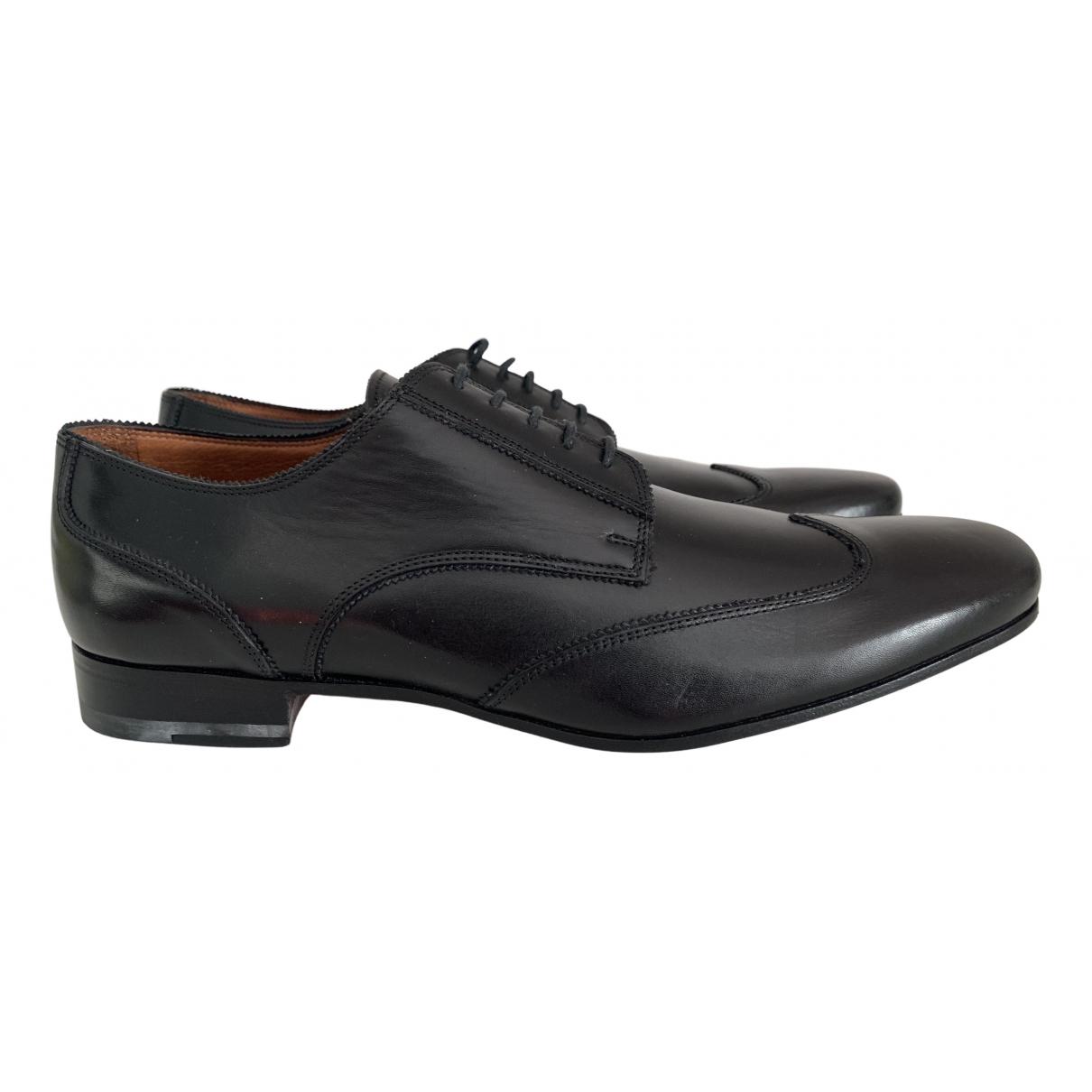 Valentino Garavani N Black Leather Lace ups for Men 43 IT