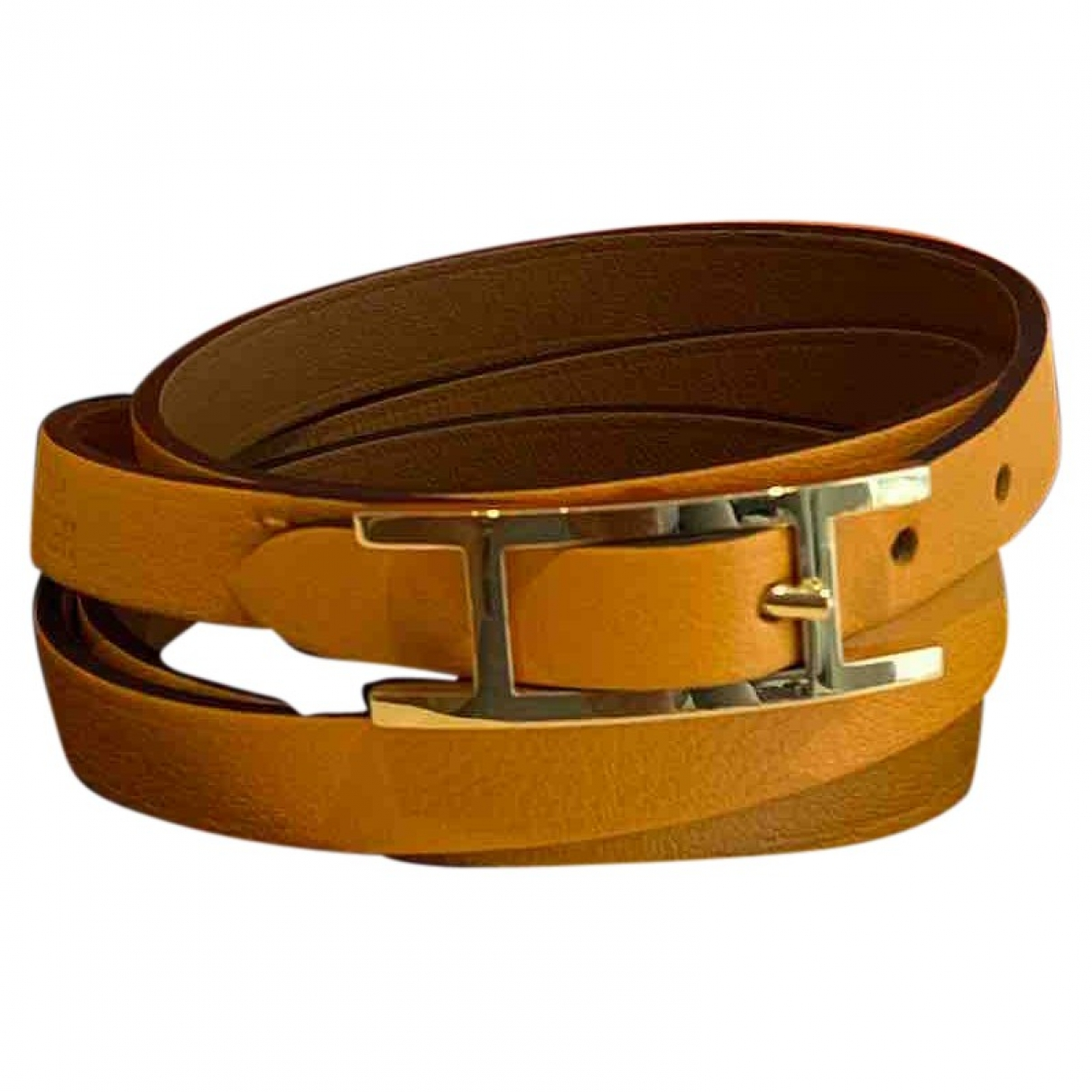 Hermès Behapi Yellow Leather bracelet for Women \N