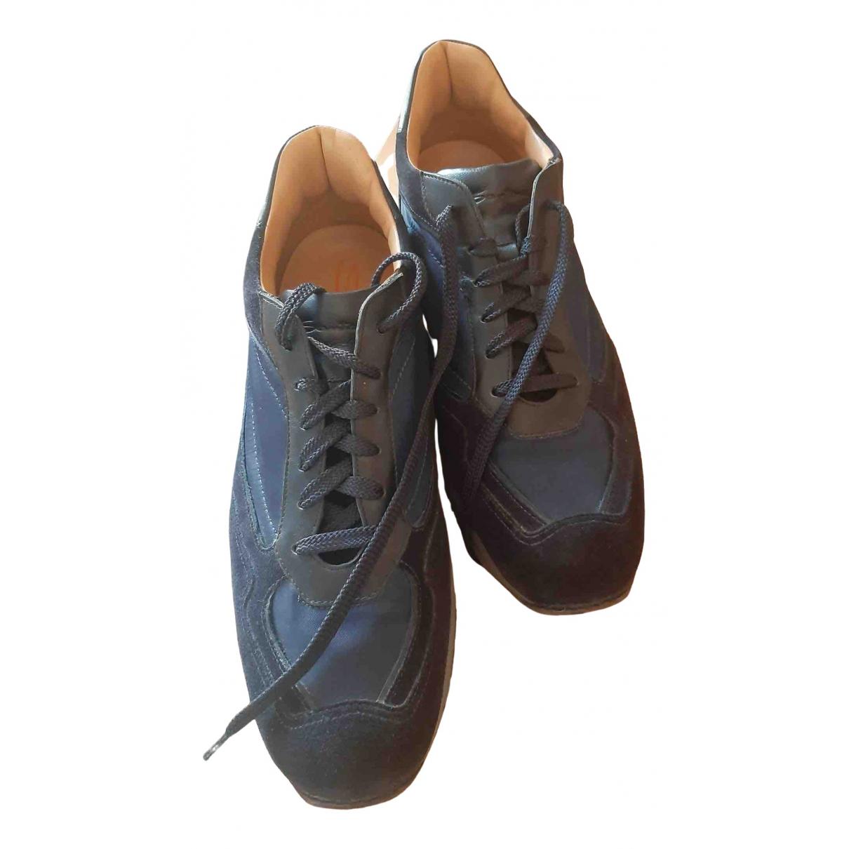 Santoni \N Stiefel in  Blau Veloursleder