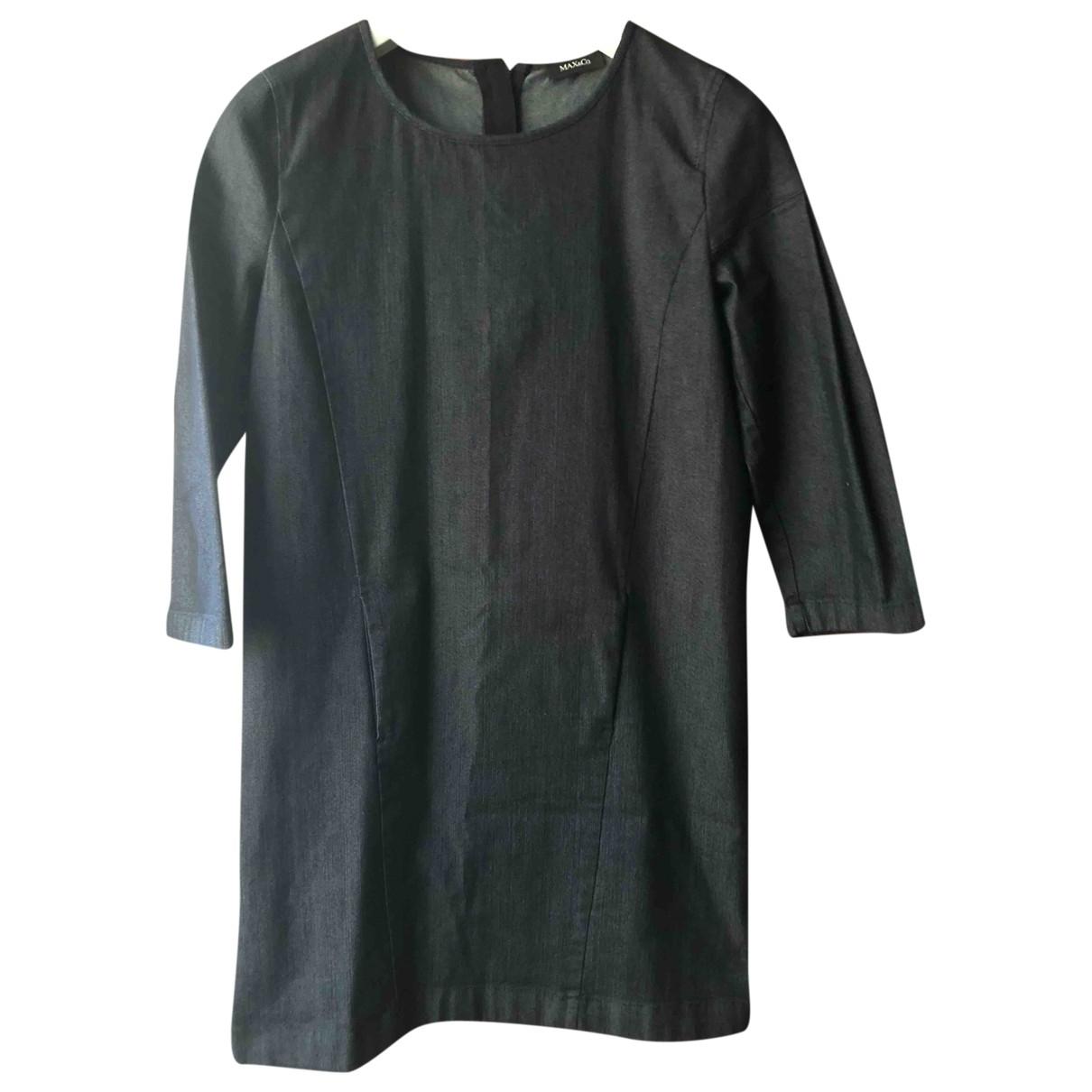Max & Co - Robe   pour femme en coton - bleu