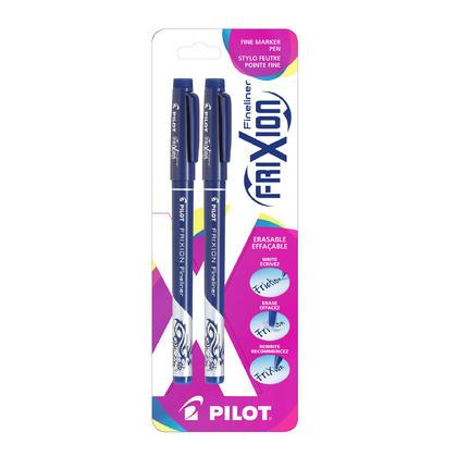 Pilot FriXion Fineliner Marker Pen, Fine Tip, Erasable, 2 Counts