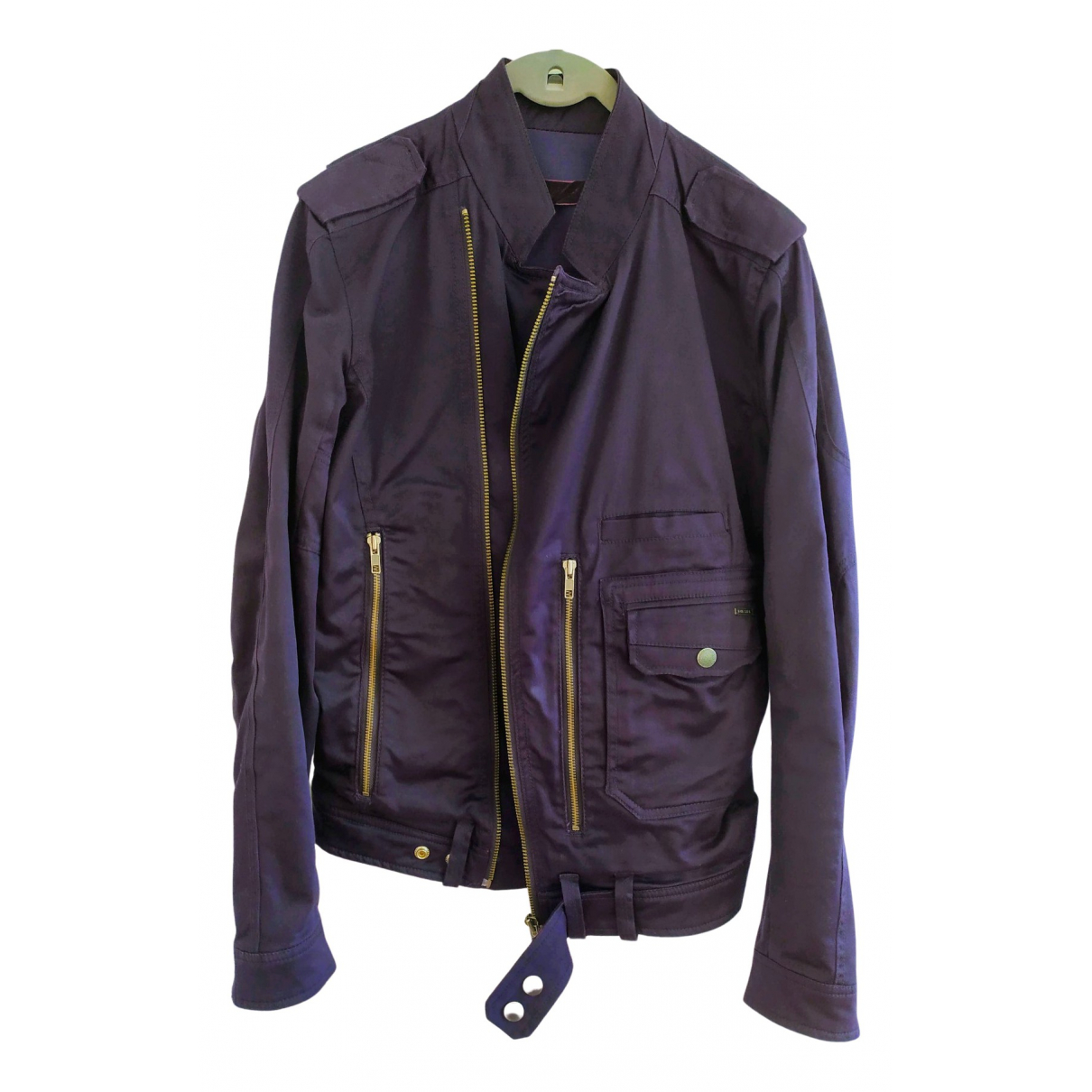 Diesel - Vestes.Blousons   pour homme en coton - violet