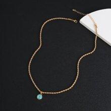 Maenner Halskette mit Tuerkis Dekor