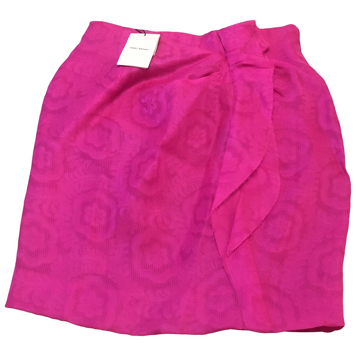 Isabel Marant \N Pink Silk skirt for Women 40 FR