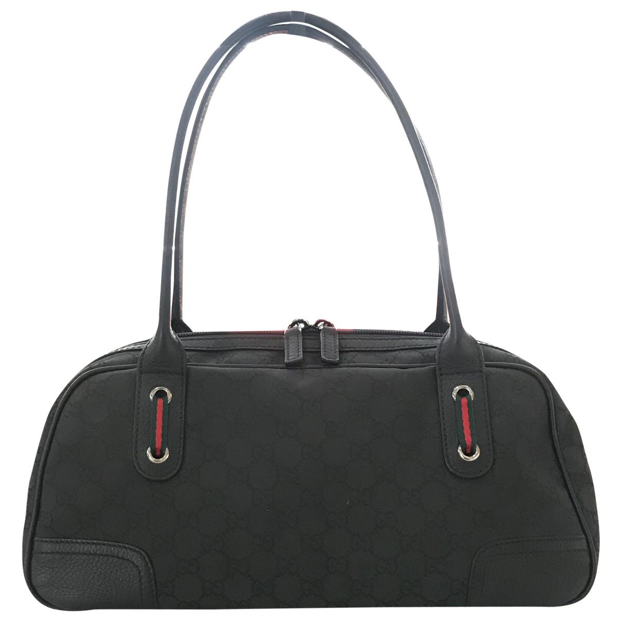 Gucci - Sac a main   pour femme en toile - noir
